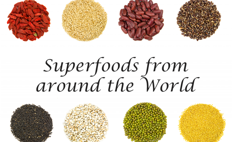 superfoods - teff, freekeh, macca